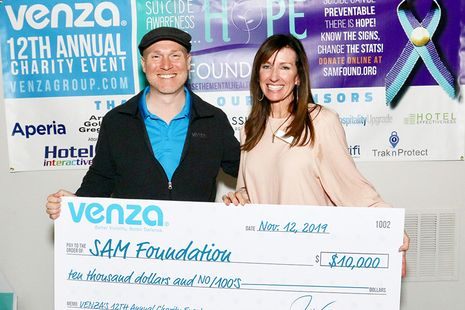 VENZA Raises $12,000 for The SAM Foundation's Suicide Prevention Training and Support Programs
