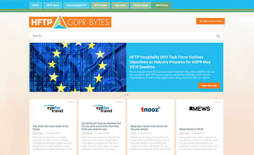 HFTP Launches New GDPR Bytes Site, an Addition to its Online News Portfolio