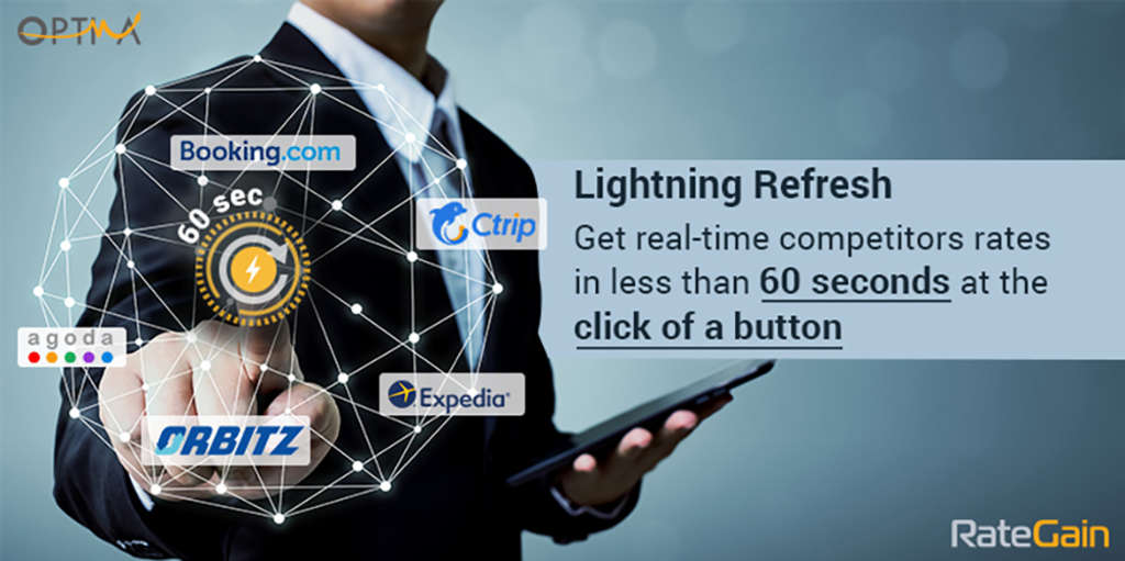 "RateGain Announces ""Lightning Refresh"" feature on their Hospitality Rate Shopper Solution"