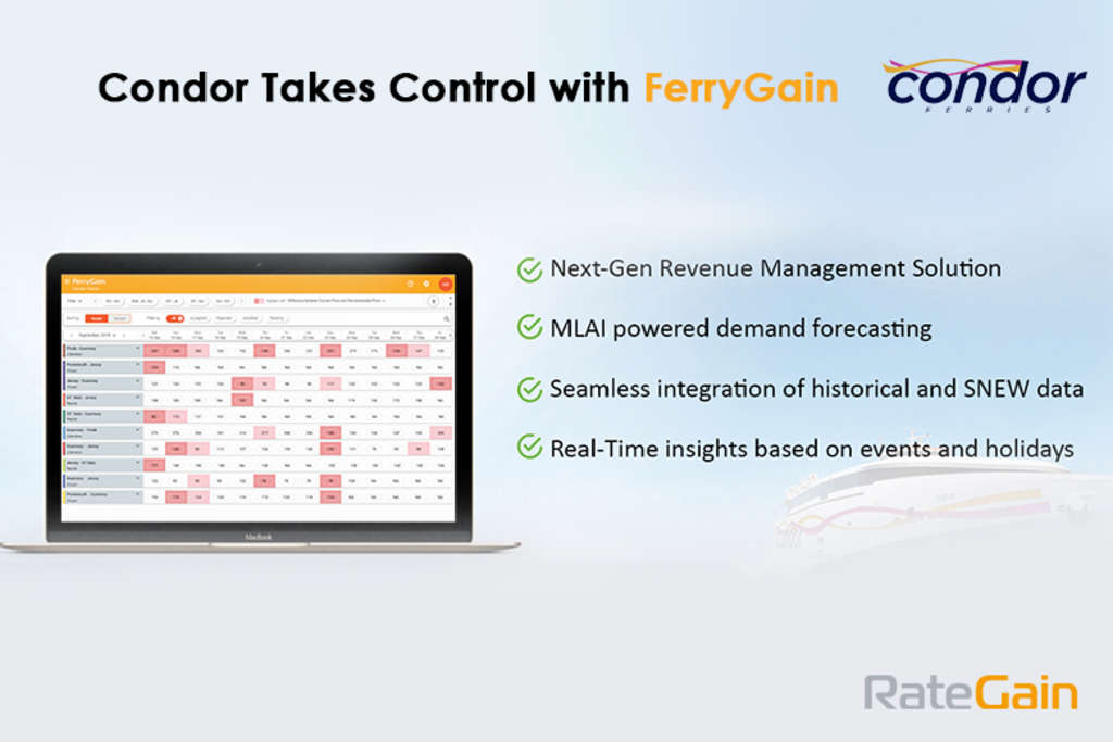 Condor Ferries Chooses RateGain for Next-Gen Revenue Management